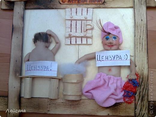 """Принимайте мою вторую работу на тему """"любителей сауны"""". МК барельефных кукол в стране уже есть, поэтому объясню следующие детали.  фото 2"""