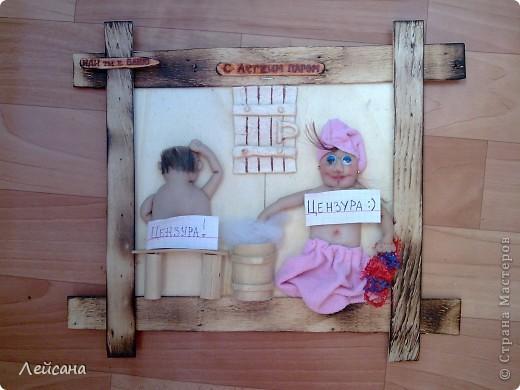 """Принимайте мою вторую работу на тему """"любителей сауны"""". МК барельефных кукол в стране уже есть, поэтому объясню следующие детали.  фото 1"""