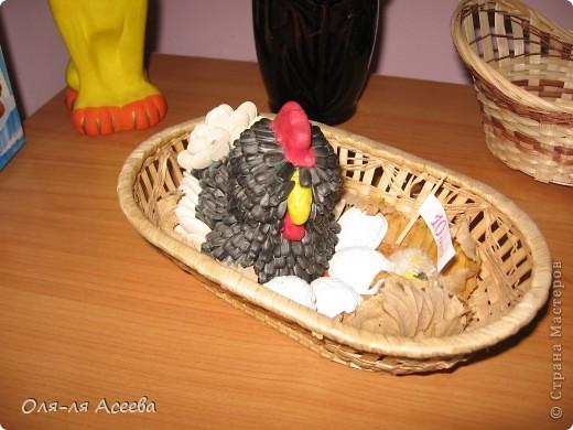 Эту курочку я делала для праздника осени. А потом к ней добавились цыплятки, и она стала пасхальной. фото 3