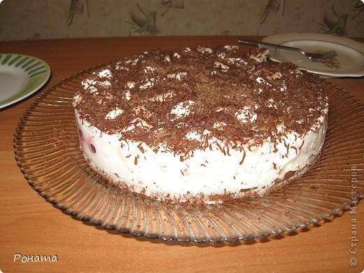"""Вот еще собрала несколько фотографий тортов. Их я делала на разные семейные праздники. Ну ооооочень вкусные! А главное, приготовлены из хороших продуктов, знаешь, что туда положено. Торты в магазине уже лет 5 не покупаем :)  Торт """"Тропиканка"""".  Этот суперский тортик очень хлопотный, но гости были в приятном шоке!  Рецепт взят отсюда - http://forum.hlebopechka.net/index.php?showtopic=2321. фото 5"""