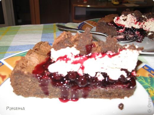 """Вот еще собрала несколько фотографий тортов. Их я делала на разные семейные праздники. Ну ооооочень вкусные! А главное, приготовлены из хороших продуктов, знаешь, что туда положено. Торты в магазине уже лет 5 не покупаем :)  Торт """"Тропиканка"""".  Этот суперский тортик очень хлопотный, но гости были в приятном шоке!  Рецепт взят отсюда - http://forum.hlebopechka.net/index.php?showtopic=2321. фото 8"""