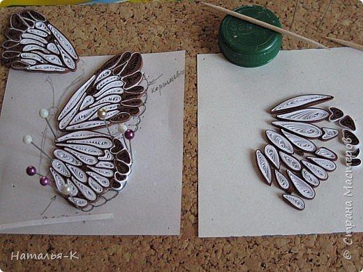 У меня появилась ещё одна бабочка.  Размер 7х8 см. Полоски 1,5 мм. фото 6