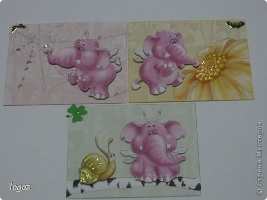 Слоны и улитка объемные. фото 1
