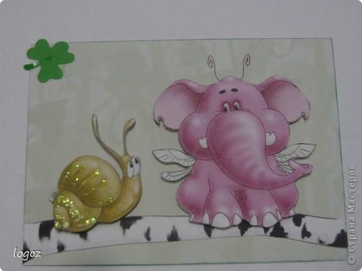Слоны и улитка объемные. фото 4