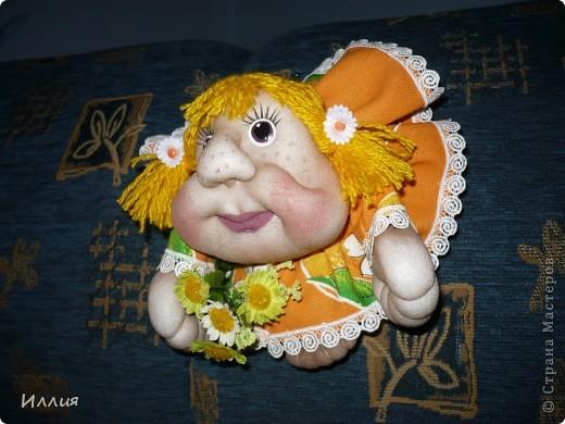 Ну вот сделала еще попиков. Действительно сделав эту куколку один раз, возвращаешся к ним вновь и вновь. На этот раз это Мальвинка и Апельсинка. Знакомьтесь. фото 2