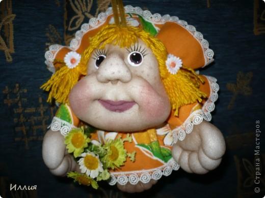 Ну вот сделала еще попиков. Действительно сделав эту куколку один раз, возвращаешся к ним вновь и вновь. На этот раз это Мальвинка и Апельсинка. Знакомьтесь. фото 3