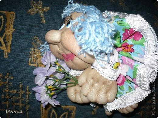 Ну вот сделала еще попиков. Действительно сделав эту куколку один раз, возвращаешся к ним вновь и вновь. На этот раз это Мальвинка и Апельсинка. Знакомьтесь. фото 5