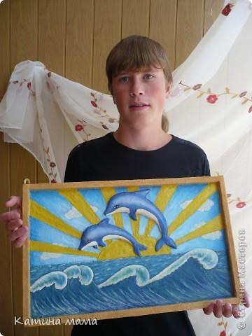 """""""Подводный мир"""" Картинки из песка, роспись акварель. фото 3"""