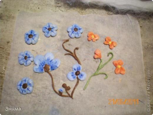 Вдохновила меня на создание этой картины работа Юлии Ославской https://stranamasterov.ru/node/175559 Захотелось создать что-то подобное из шерсти. Результатом осталась довольна. фото 35
