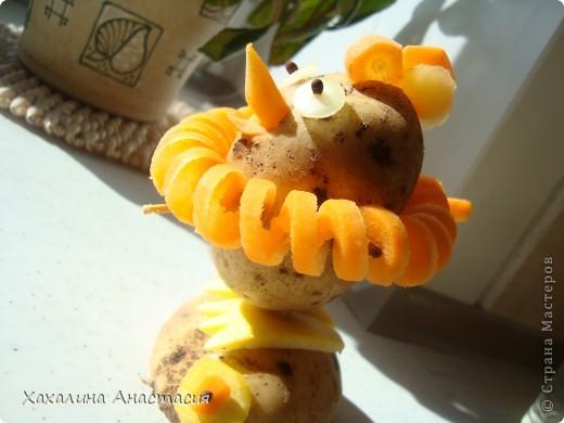 Картофельный цыпленок,поделка старшей дочери в садик. фото 1
