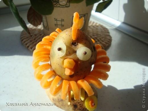 Картофельный цыпленок,поделка старшей дочери в садик. фото 2