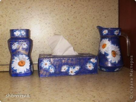 Набор банка для кофе, салфетница и графин для воды .. фото 1