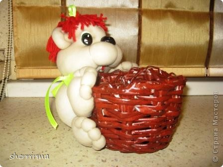 Клоун Яша ( каркас из бутылки пластиковой ) фото 8