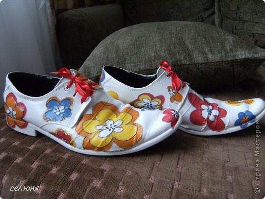 Вот вошла во вкус и сделала вторую пару декупажных ботинок. Мастер-класс по декупажу первой пары здесь - http://stranamasterov.ru/node/197539 фото 3