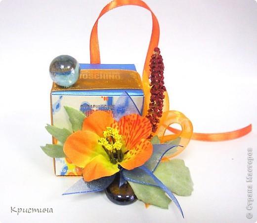 Упаковка маленьких духов - сделала Кильметова Ирина фото 1