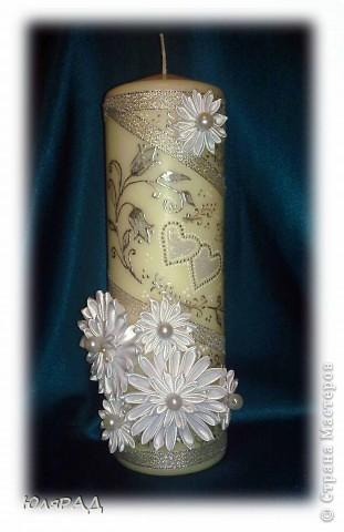 Серебряная свеча фото 1