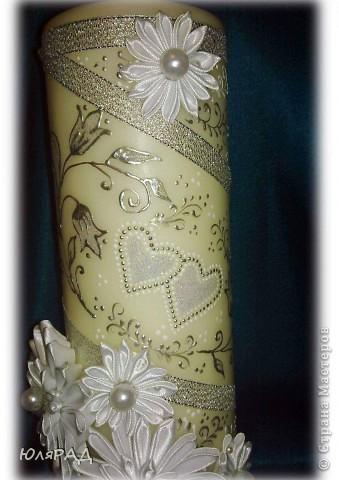 Серебряная свеча фото 4