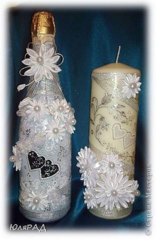 Серебряная свеча фото 2