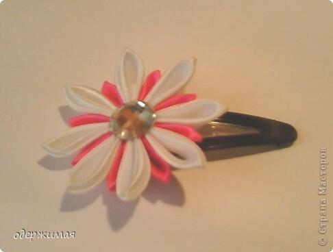 цветок канзаши фото 1
