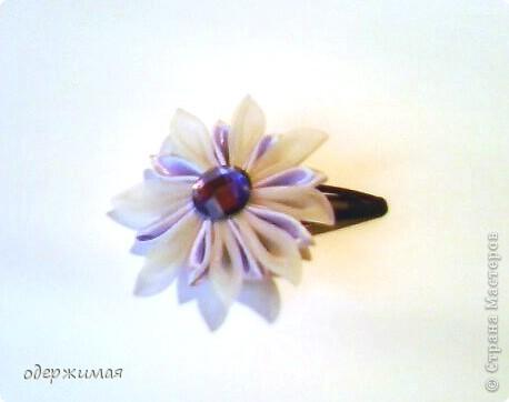 цветок канзаши фото 2