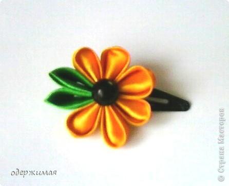 цветок канзаши фото 3