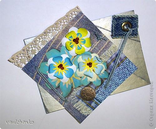 """Как же появляются эти маленькие карточки? Иногда совершенно случайно: прислали чудесные подарочки - красивую бумагу, а дочка купила наклеечки с цветами. И вот.... История аранжировки цветов - писать на карточке это очень длинно, поэтому просто - """"БУКЕТЫ"""" Карточки разделены на группы - совершенно разные  по художественному оформлению! фото 14"""