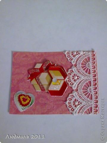 """Вот такие карточки получились у меня, серия называется """"Подарок"""". Первыми выбирают Vitulichka  и   Елена Дичко-Сторожук (если конечно, понравится (я у них в долгу))!  фото 2"""