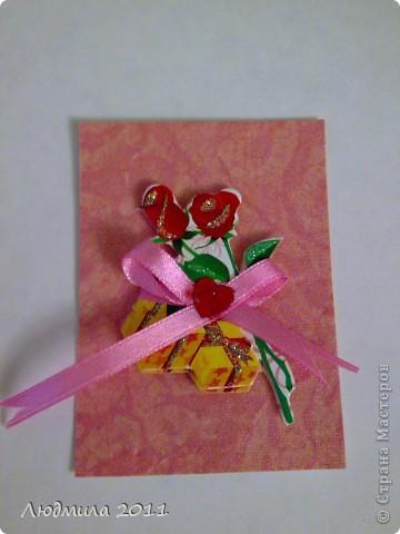 """Вот такие карточки получились у меня, серия называется """"Подарок"""". Первыми выбирают Vitulichka  и   Елена Дичко-Сторожук (если конечно, понравится (я у них в долгу))!  фото 5"""