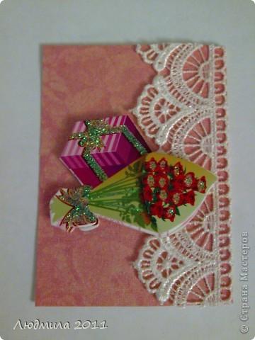 """Вот такие карточки получились у меня, серия называется """"Подарок"""". Первыми выбирают Vitulichka  и   Елена Дичко-Сторожук (если конечно, понравится (я у них в долгу))!  фото 7"""