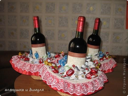конфеты и вино дарились и принимались , наверное, каждым из нас... захотелось как-то обыграть немного этот презент, не прибегая к банальному покупному подарочному пакету фото 5
