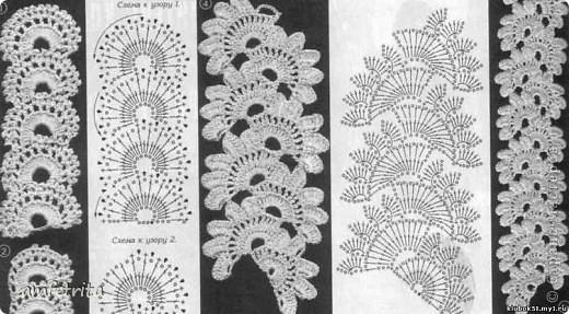 """Шарфик для мамы. Крючком, цветочная лента. Пряжа для вязания """"Камтекс"""", хлопок. фото 2"""
