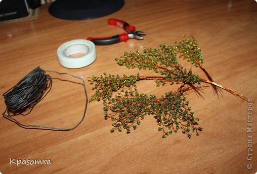 ССЫЛКА НА ЧАСТЬ1: http://stranamasterov.ru/node/199607 Здравствуйте уважаемые мастера и мастерицы! Во второй части наших уроков я бы хотела подробно рассказать как сделать каркас нашей будущей березки. Этот урок, я думаю,  можно будет брать за основу при выполнении других видов деревьев. У нас уже готовы ветви нашего дерева. Их 7 штук. фото 7
