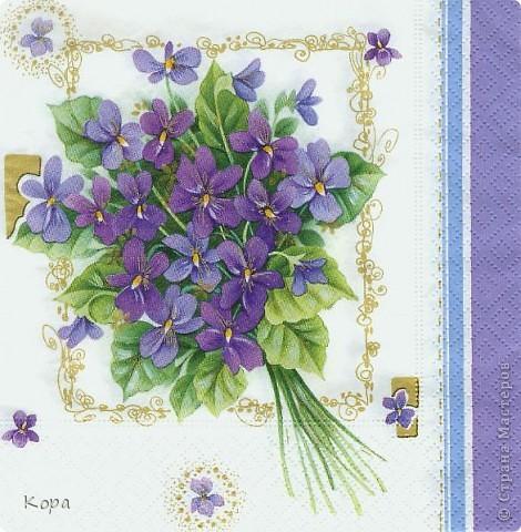 Очень хотелось сделать мои любимые фиалки. Обожаю эти цветы. Они у меня всегда ассоциировались с Францией, мансардами Монмартра. Вот такой букетик получился. Не все получилось конечно (хнык-хнык...) фото 3