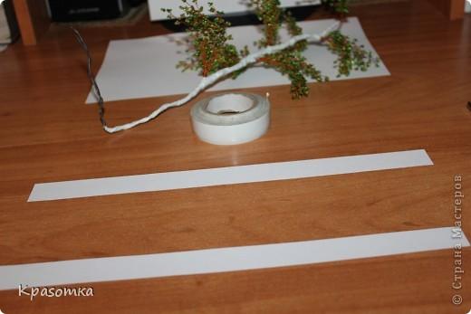 ССЫЛКА НА ЧАСТЬ1: http://stranamasterov.ru/node/199607 Здравствуйте уважаемые мастера и мастерицы! Во второй части наших уроков я бы хотела подробно рассказать как сделать каркас нашей будущей березки. Этот урок, я думаю,  можно будет брать за основу при выполнении других видов деревьев. У нас уже готовы ветви нашего дерева. Их 7 штук. фото 20