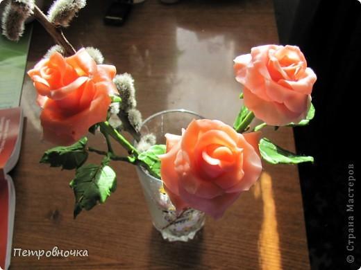 Мои новые розы. Размер настоящих. Соскучилась по своему фарфору. Почти месяц не варила, зато теперь сразу две порции, еще и с коллегой поделилась.  фото 8