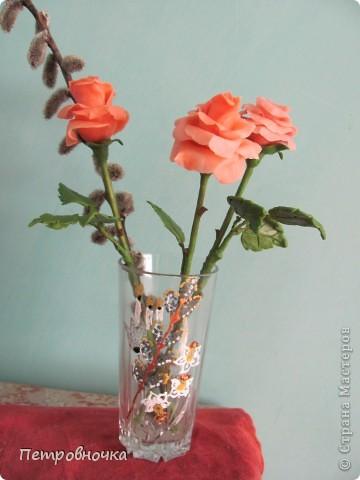 Мои новые розы. Размер настоящих. Соскучилась по своему фарфору. Почти месяц не варила, зато теперь сразу две порции, еще и с коллегой поделилась.  фото 6