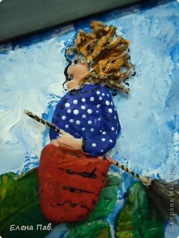 Эта работа большая, размер рамы 50 на 70 см. Делали к дню города Пушкина (Царское Село). Еще не отправляли на конкурс. фото 3