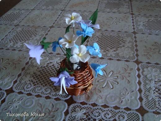 """Цветочки выполнены из глины """"GLAYCRAFT"""" By DECO фото 1"""