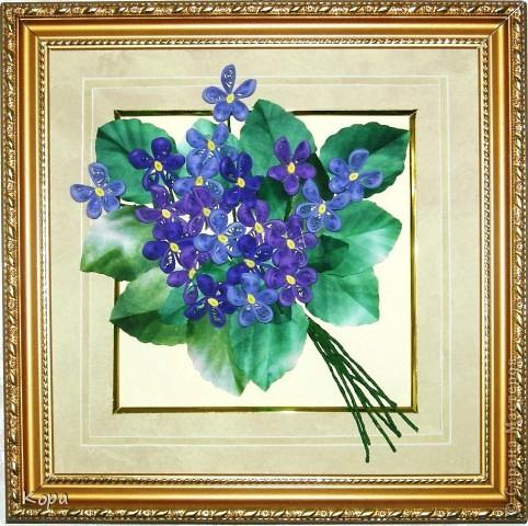 Очень хотелось сделать мои любимые фиалки. Обожаю эти цветы. Они у меня всегда ассоциировались с Францией, мансардами Монмартра. Вот такой букетик получился. Не все получилось конечно (хнык-хнык...) фото 1