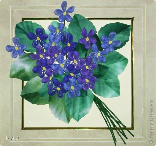 Очень хотелось сделать мои любимые фиалки. Обожаю эти цветы. Они у меня всегда ассоциировались с Францией, мансардами Монмартра. Вот такой букетик получился. Не все получилось конечно (хнык-хнык...) фото 2