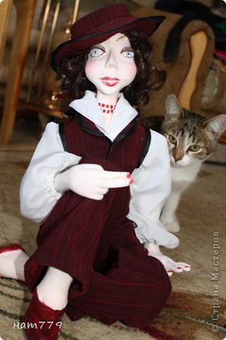 35 см Эллочка фимо, паперклей, проволочный каркас (это первая кукла, так что она сборная) фото 1