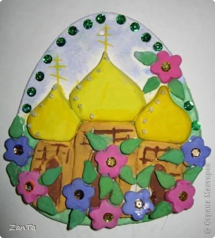 Эта поделка была сделана дочкой к празднику Святой Пасхи. фото 1