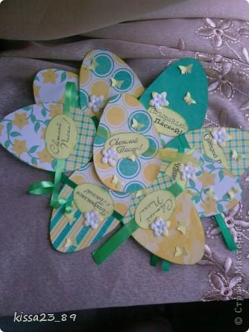Вот так вот много открыточек наделала на Пасху фото 2