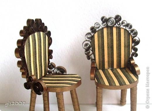 "Квиллинг. ""Два стула из дворца"" для Остапа Бендера фото 1"