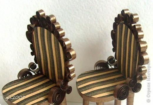 "Квиллинг. ""Два стула из дворца"" для Остапа Бендера фото 2"