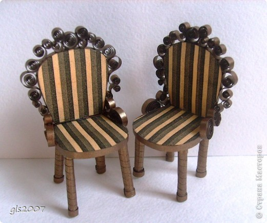 "Квиллинг. ""Два стула из дворца"" для Остапа Бендера фото 4"