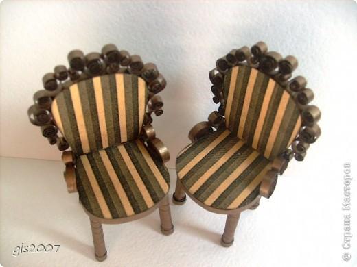 "Квиллинг. ""Два стула из дворца"" для Остапа Бендера фото 3"