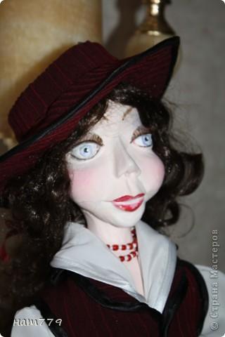 35 см Эллочка фимо, паперклей, проволочный каркас (это первая кукла, так что она сборная) фото 2
