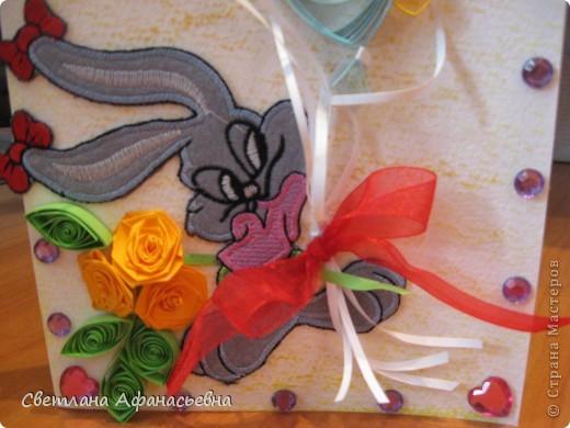 весёлый зайчик - открытка фото 3