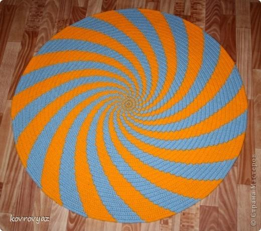 коврик вязаный фото 1